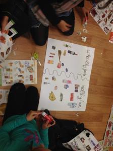 4.- FEBRERO_CLASE ANA_MayJu_3PRIMARIA_HealthyOrUnhealthy food mural