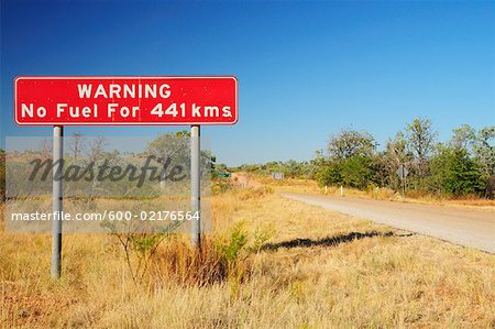 600-02176564 © Jochen Schlenker Model Release: No Property Release: No Road Sign, Duncan Road, Northern Territory, Australia